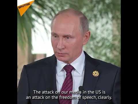 Putin Speaks About Media Harassment