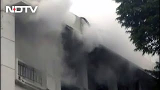 Fire Breaks Out At Building In Delhi's Busy Ito Area