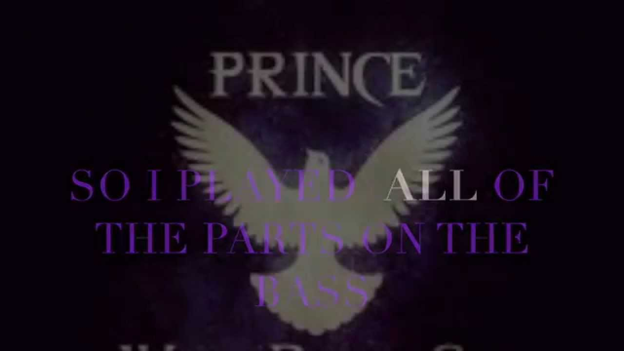 Prince When Doves Cry All Parts Played On Bass Youtube