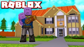 THANOS ADOPTING AND RAISING CUTE BABY THANOS in ROBLOX