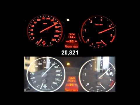 BMW X5 35d 0-100 UPsolute Stage2 vs BMW X5 35d stock+DPF off 0-200