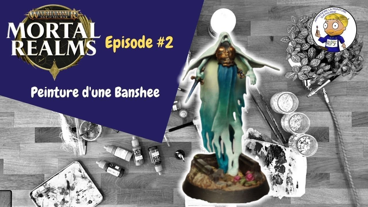 Mortal Realms numéro 2 - peinture d'une Banshee - apprendre la peinture sur figurine