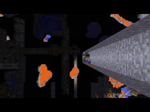 Minecraft, maar de wereld is gekanteld...