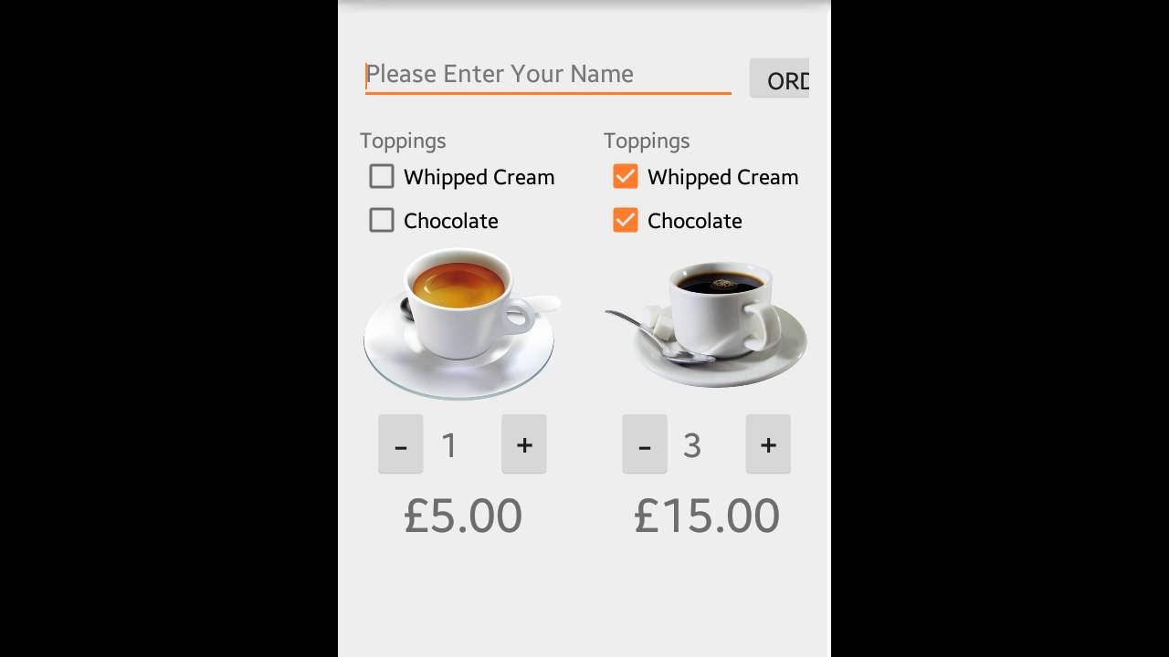 Coffee Order Android App