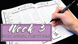Week 3 🔮 Bullet Journal 🌙 Plan With Me