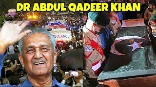 Dr. Abdul Qadeer Khan's State Funeral at Faisal Masjid, Islamabad Pakistan