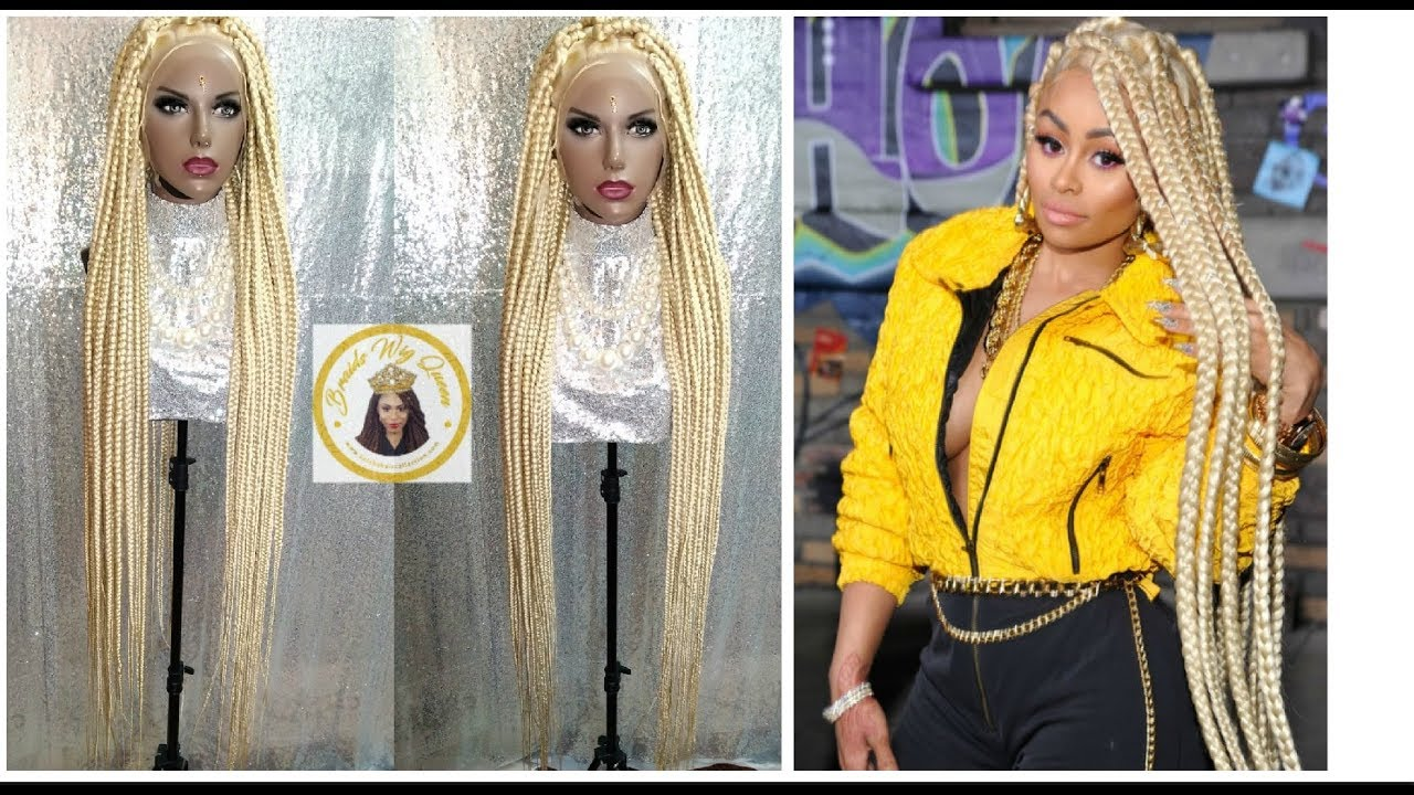 e18509c1723d37 How To: Blac Chyna Inspired Jumbo Box Braid Wig- 58inches w/Full Lace Wig. Braids  Wig Queen