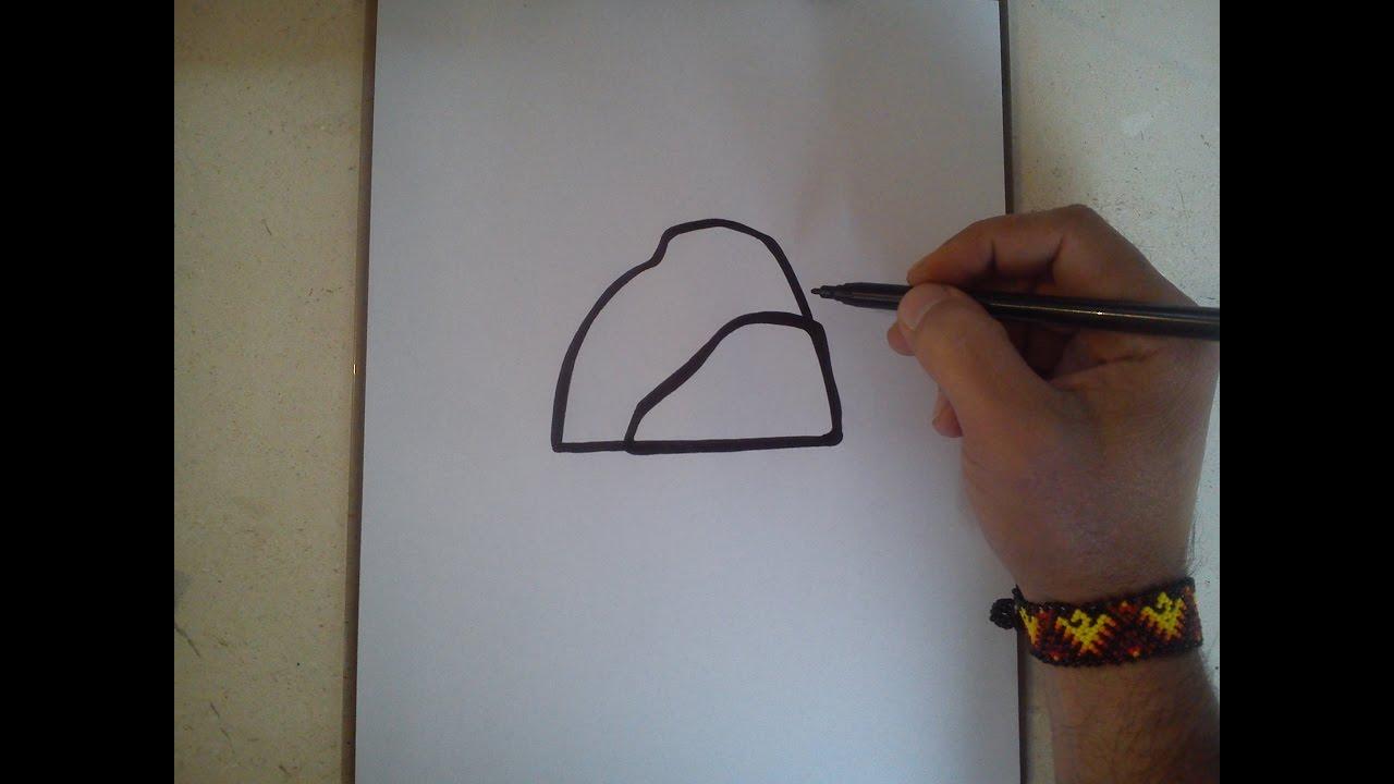 Como Dibujar El Simbolo De La Aldea De La Roca Naruto Youtube