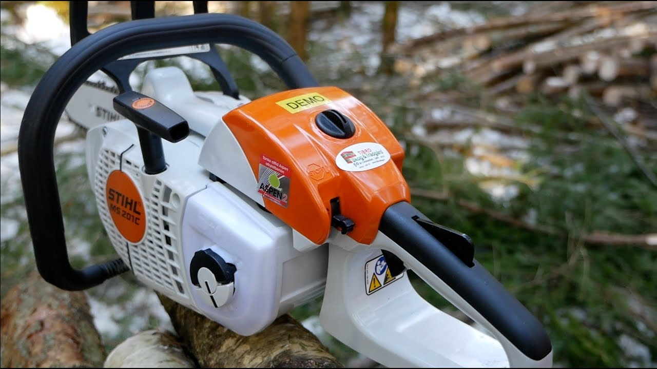 Testing Stihl's Smallest Pro Chainsaw MS 201C - A Little Beast ...