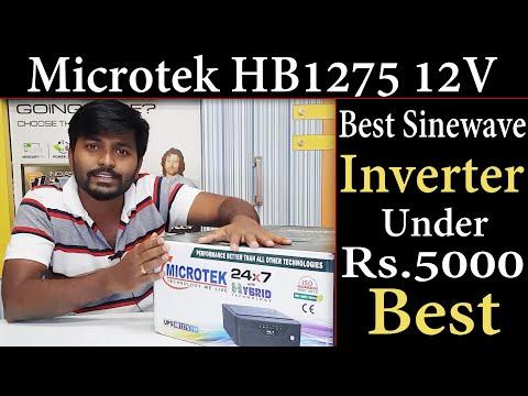 Microtek HB1275 Pure Sinewave Inverter Unboxing And Details   Microtek Home Inverter  