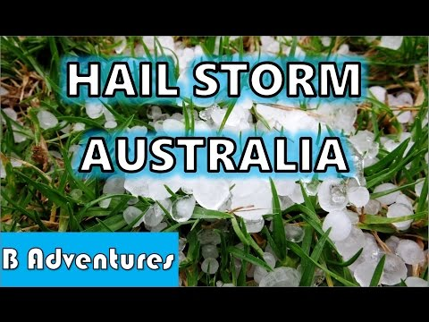 Hail Storm, Severe Thunderstorm Warning, NSW region Australia, January 2016