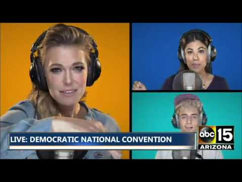 Elizabeth Banks, Mandy Moore, Aisha Tyler, Rachel Platten cover - Democratic National Convention