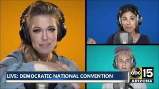 Elizabeth Banks, Mandy Moore, Aisha Tyler, Rachel Platten cover - Democratic National Convention