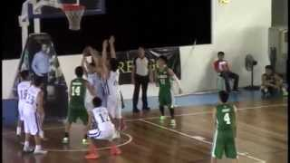 PCABL Juniors Basketball 2014 Ateneo HS Blue Eaglets vs DLSZ Junior Archers