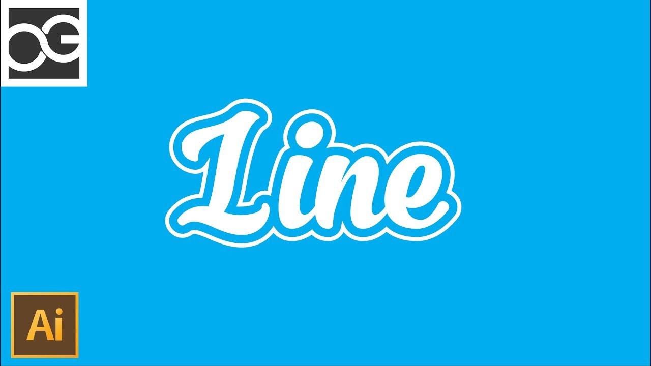Line Typography Tutorial - Very Easy | Illustrator Tutorial