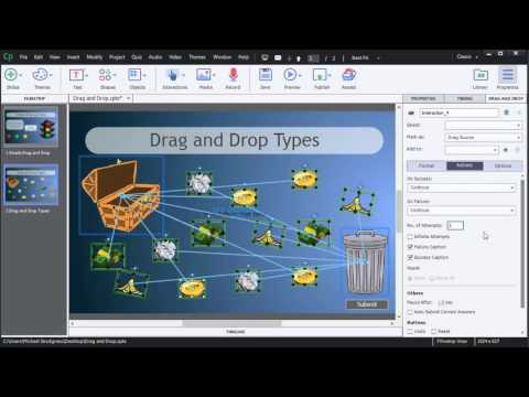 Creating a Drag and Drop Interaction in Captivate pt.2