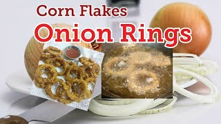 Onion rings with corn flakes|Corn flakes recipe| Snacks with corn flakes| Onion rings|eatinghub