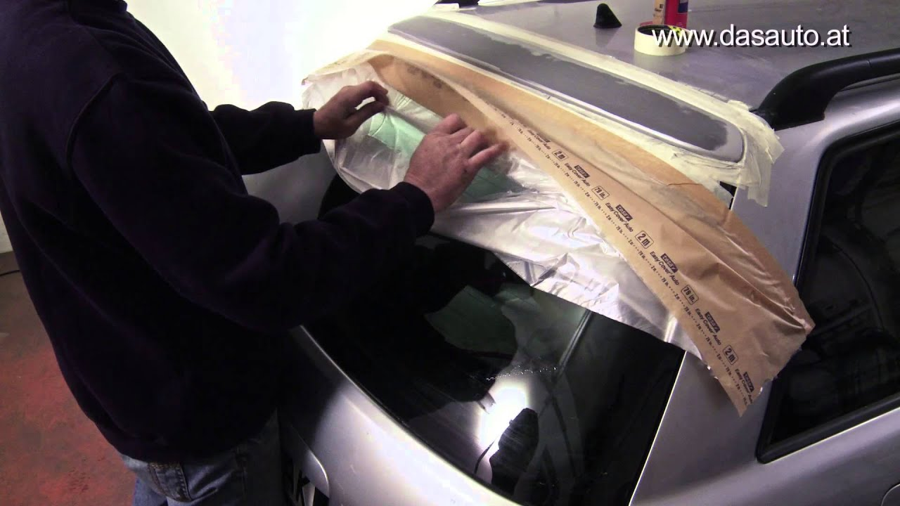 easy repair - heckspoiler selbst lackieren mit lackspray spaydose