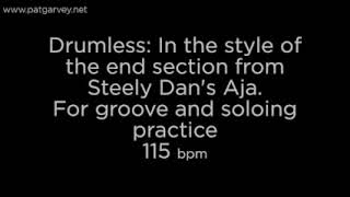 Drumless backing track in the style of the end section of Steely Dan's tune 'Aja'.