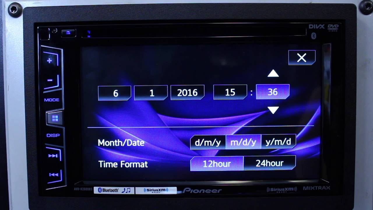 how to do set the clock on your pioneer avh radio youtube Set Clock Pioneer Car Stereo Dream Machine Clock Radio Manual