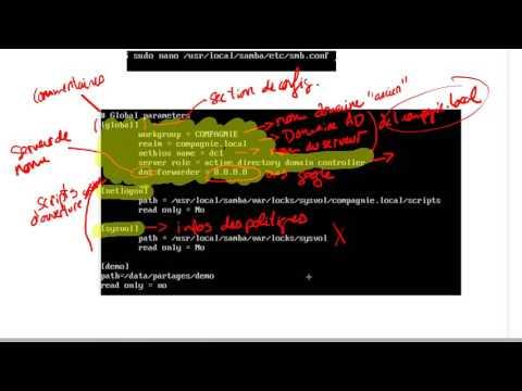 Comprendre la configuration du fichier SMB CONF sous SAMBA 4