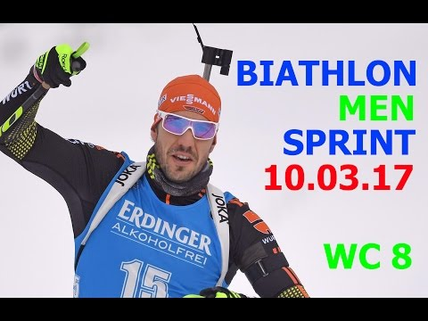 BIATHLON MEN SPRINT 10.03.2017 World Cup 8 Kontiolahti (Finland)