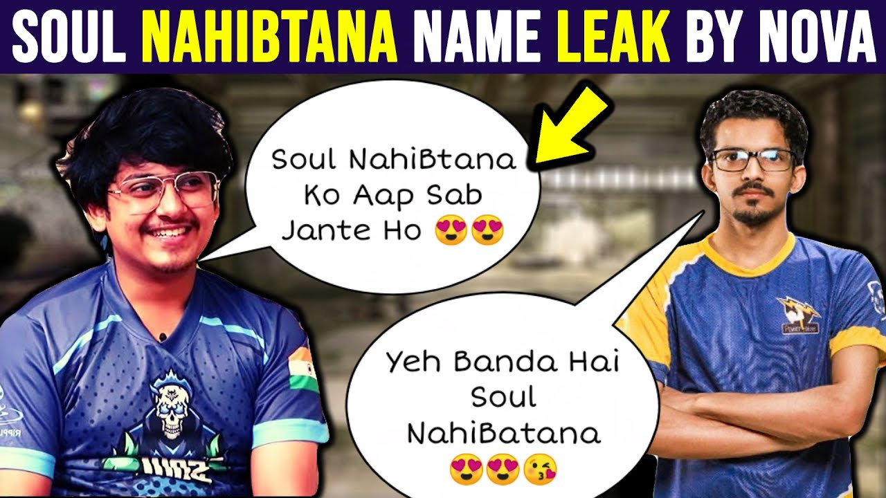 Team Soul New Player Soul NahiBtana Name Leaked By Novaking | Mortal And Soul New Lineup