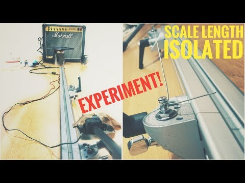 How does GUITAR NECK LENGTH influence tone? -  SCALE LENGTH ISOLATED in an EXPERIMENT!