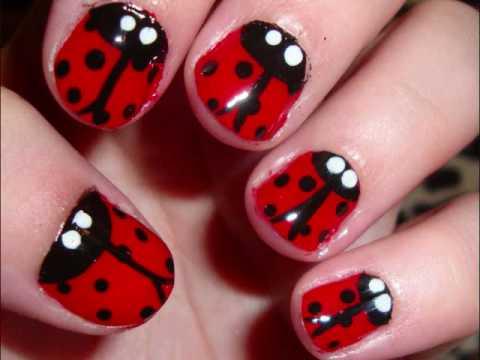 ladybug nails summer