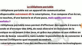 الهاتف النقال بالفرنسية فوائد 5 فوائد