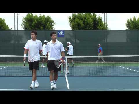 05 26 2008 Yu Zheng doubles tennis at Home Depot center