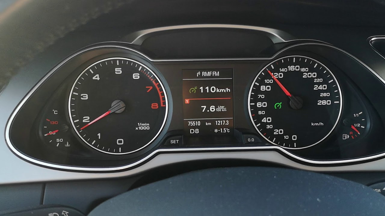 Spalanie Audi A4 B8 Quattro 20 Tfsi 224hp 110kmh Youtube