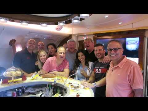 Party on Board A380 Emirates Airline حفلة في الطيارة٣٨٠ طيران الاماارت