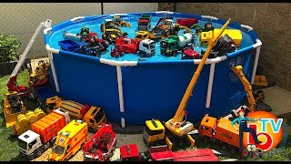 BRUDER TOYS Traktor Truck POOL PARTY | Kids Videos | Learn video