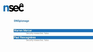 NorthSec 2019 – Warren Mercer & Paul Rascagnères – DNS On Fire