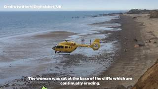 Woman airlifted to hospital after cliff fall