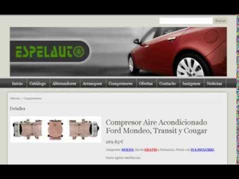 Compresor De Aire Acondicionado Para Ford Mondeo I-II, Ford Transit Y Ford Cougar.