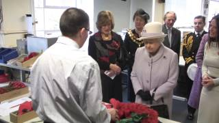 The Queen visits the Poppy Factory