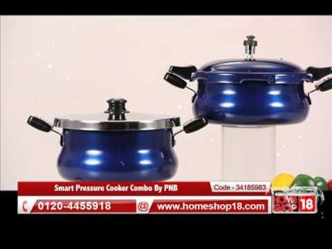 77c862248c3 Homeshop18.com - Smart Pressure Cooker Combo By PNB - YouTube