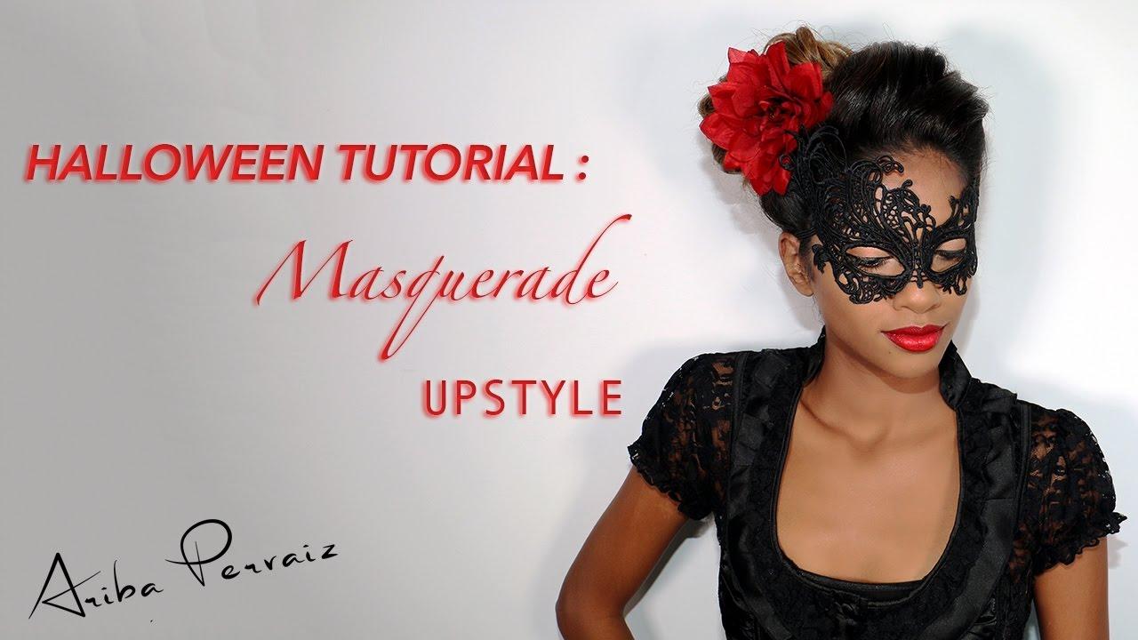halloween: masquerade upstyle - hair tutorial | ariba pervaiz