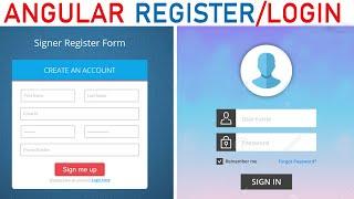 Angular 8 (LOGIN PAGE) PHP/MySql  Register Login | Angular 8 with PHPMYsql login register Example
