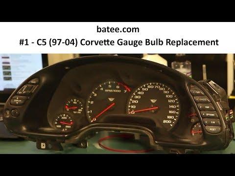 97-04 Corvette Fix #1 Instrument Panel Repair Replace Bulb Gauge Cluster