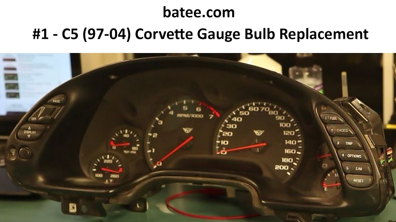 97-04 Corvette Fix #1 Instrument Panel Repair Replace Bulb Gauge Cluster