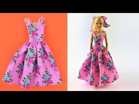 DIY Barbie Toy Summer Dress Video - Barbie Fashion Clothes Tutorial for kids Girls