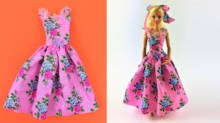 DIY Barbie Toy Summer Dress Video - Barbie Fashion Clothes Tutorial for  Girls