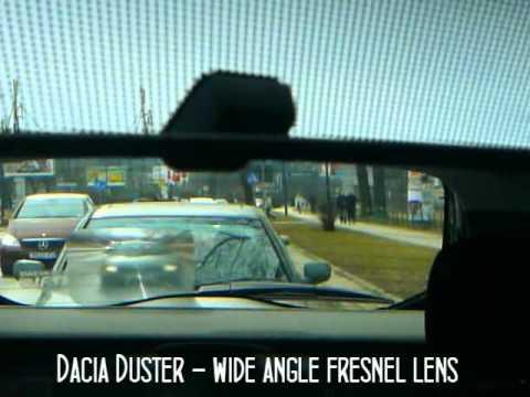Dacia Duster - rear window wide angle fresnel lens