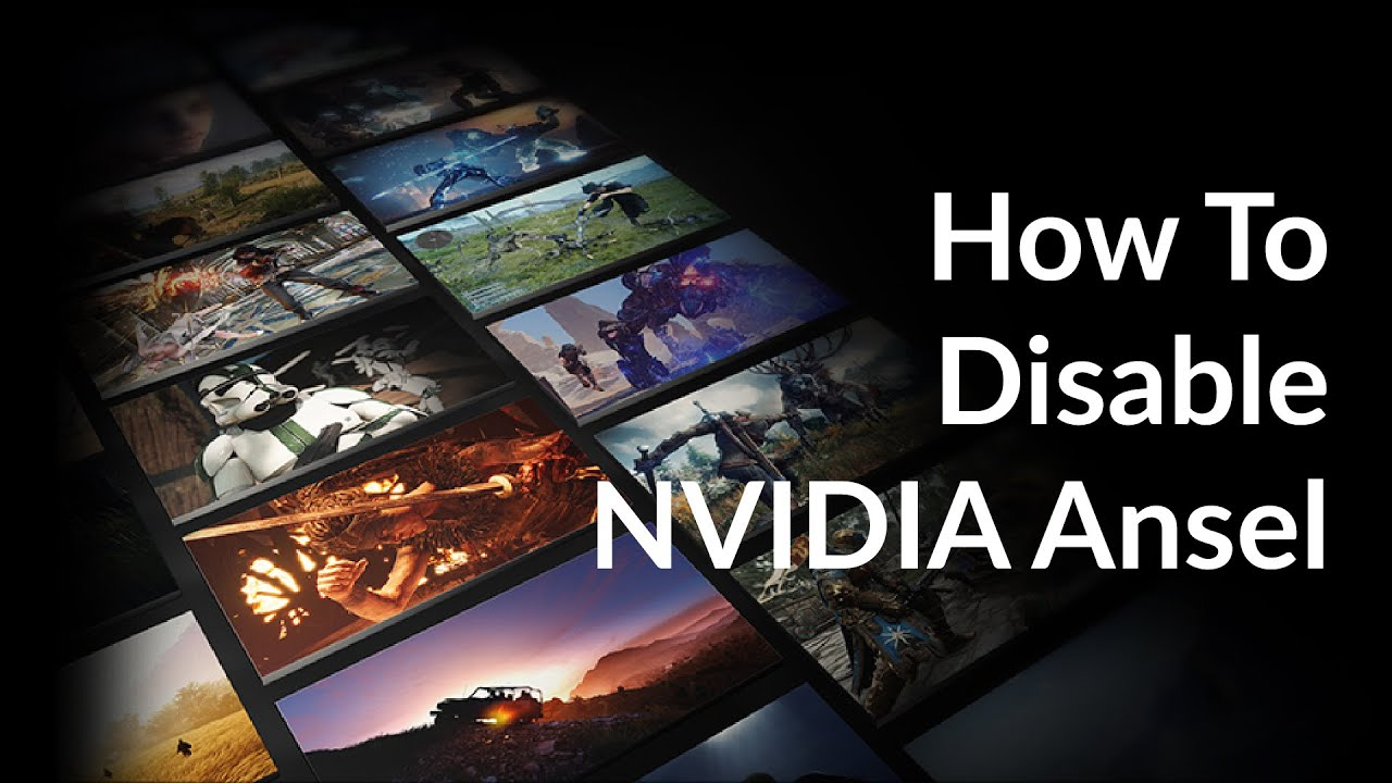 How to disable NVIDIA Ansel