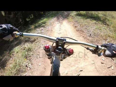 Crans-Montana bike park - New blue slope, DH mountain bike descente