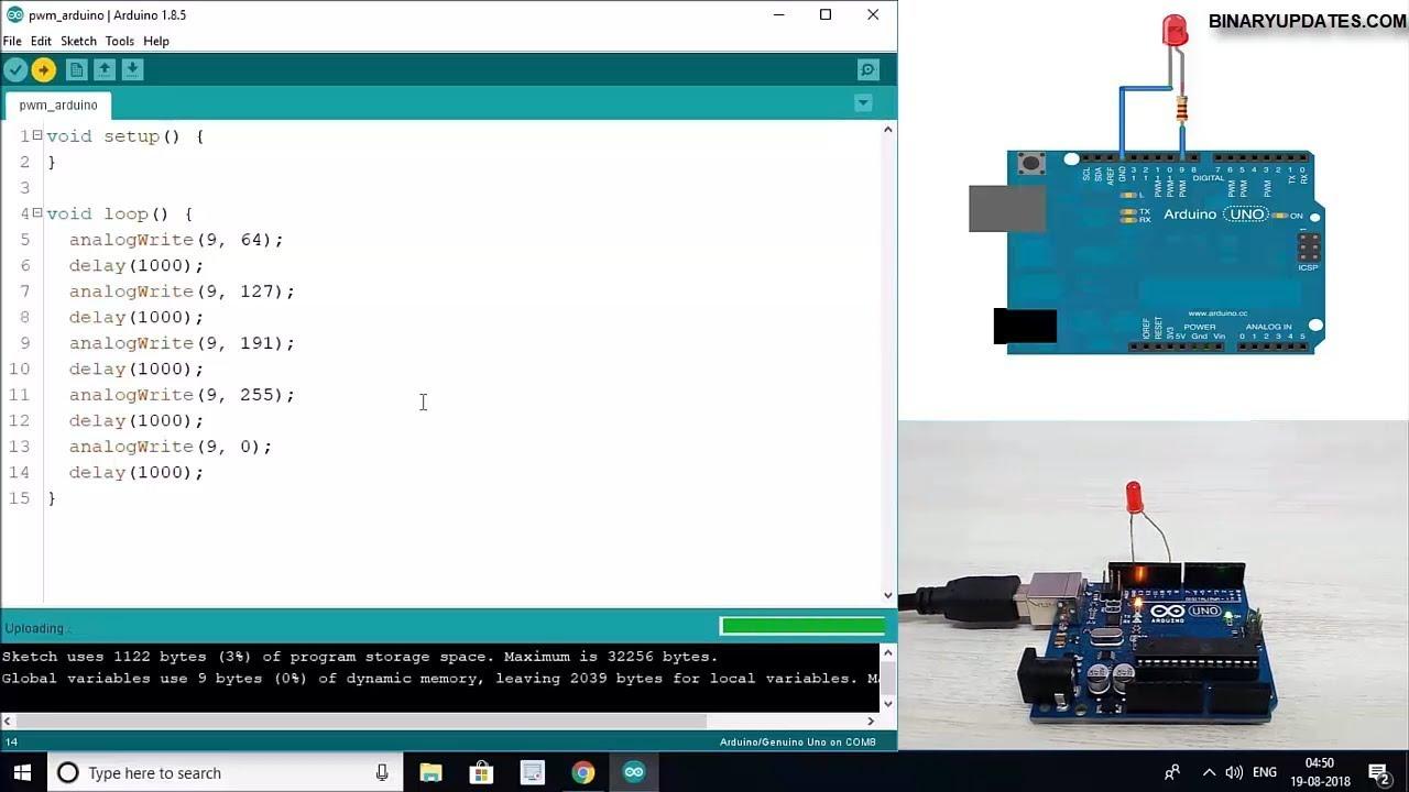 PWM in Arduino-Pulse Width Modulation