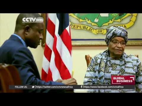 President Sirleaf says she is working to boost Liberian economy